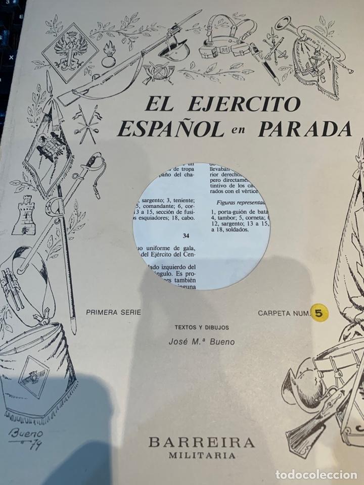 Coleccionismo Recortables: Carpetas (5) completas Primera Serie El Ejército en Parada n. 1,2,3,4 y 5 - 40 láminas ver fotos - Foto 17 - 252431470