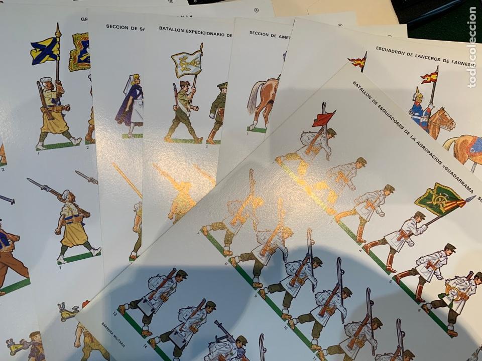 Coleccionismo Recortables: Carpetas (5) completas Primera Serie El Ejército en Parada n. 1,2,3,4 y 5 - 40 láminas ver fotos - Foto 20 - 252431470