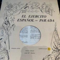 Coleccionismo Recortables: CARPETAS (5) COMPLETAS PRIMERA SERIE EL EJÉRCITO EN PARADA N. 1,2,3,4 Y 5 - 40 LÁMINAS VER FOTOS. Lote 252431470