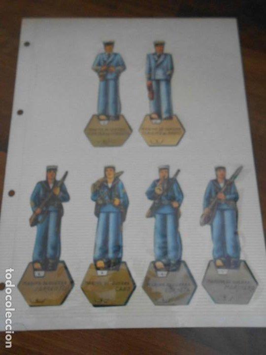 LOTE 13 RECORTABLES ORIGINAL GUERRA CIVIL ESPAÑOLA EJERCITO POPULAR CAPITAN CORBETA CABO MARINO (Coleccionismo - Recortables - Soldados)