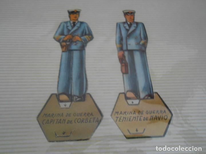 Coleccionismo Recortables: LOTE 13 RECORTABLES ORIGINAL GUERRA CIVIL ESPAÑOLA EJERCITO POPULAR CAPITAN CORBETA CABO MARINO - Foto 2 - 252494290