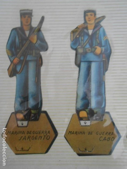 Coleccionismo Recortables: LOTE 13 RECORTABLES ORIGINAL GUERRA CIVIL ESPAÑOLA EJERCITO POPULAR CAPITAN CORBETA CABO MARINO - Foto 4 - 252494290
