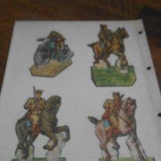 Coleccionismo Recortables: LOTE 12 RECORTABLES ORIGINAL GUERRA CIVIL ESPAÑOLA EJERCITO POPULAR CABALLERIA MOTO CORONEL TAMBOR C. Lote 252495390