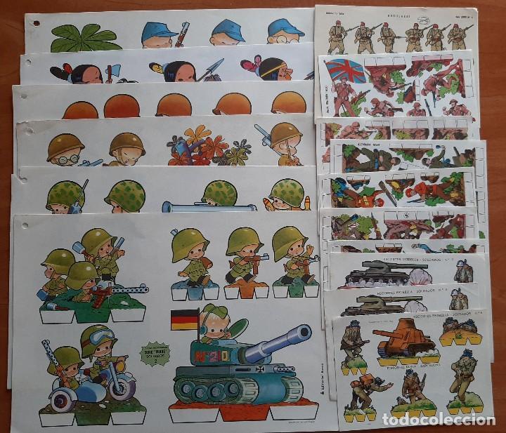 20 RECORTABLES DE SOLDADOS DIVERSOS (Coleccionismo - Recortables - Soldados)