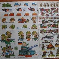 Coleccionismo Recortables: 20 RECORTABLES DE SOLDADOS DIVERSOS. Lote 252831145