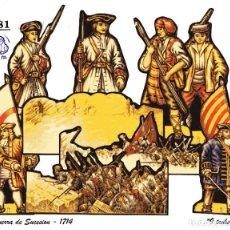 Coleccionismo Recortables: LA TIJERA ROMA EVA BRUGUERA - RECORTES DE AUTOR - LOTE 281 GUERRA DE SUCESIÓN - 9 MODELOS RECORTADOS. Lote 253310700
