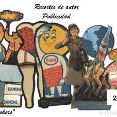 Coleccionismo Recortables: LA TIJERA ROMA EVA BRUGUERA - RECORTES DE AUTOR - LOTE 286 PUBLICIDAD - 8 MODELOS RECORTADOS. Lote 253313685