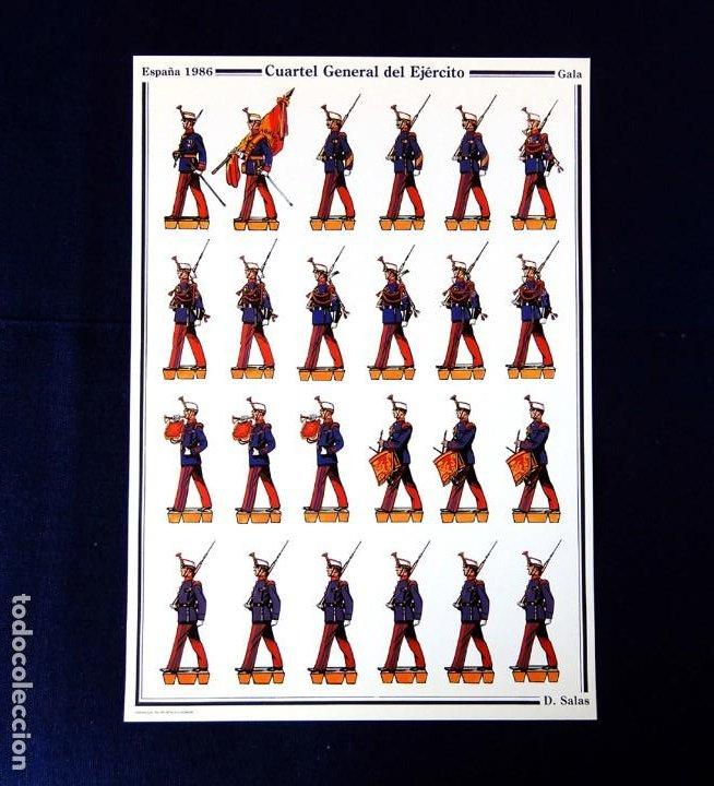 RECORTABLE - SOLDADOS: ESPAÑA 1986 - CUARTEL GENERAL DEL EJERCITO - GALA - D. SALAS - NUEVO (Coleccionismo - Recortables - Soldados)
