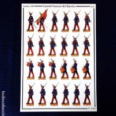 Coleccionismo Recortables: RECORTABLE - SOLDADOS: ESPAÑA 1986 - CUARTEL GENERAL DEL EJERCITO - GALA - D. SALAS - NUEVO. Lote 259226755