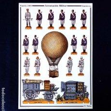 Coleccionismo Recortables: RECORTABLE - SOLDADOS: AEROSTACIÓN MILITAR - CUARTEL GENERAL DEL EJERCITO - D. SALAS - NUEVO. Lote 259324915