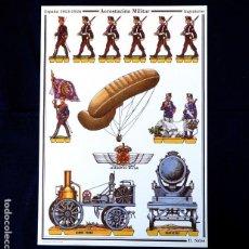 Coleccionismo Recortables: RECORTABLE - SOLDADOS: AEROSTACIÓN MILITAR - CUARTEL GENERAL DEL EJERCITO - D. SALAS - NUEVO. Lote 259330475