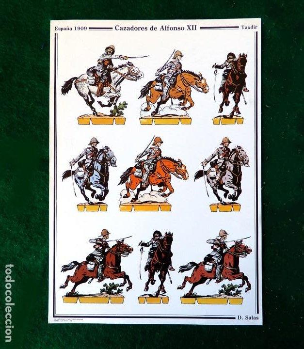 RECORTABLE - SOLDADOS: CAZADORES DE ALFONSO XIII - CUARTEL GENERAL DEL EJERCITO - D. SALAS (Coleccionismo - Recortables - Soldados)