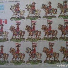 Coleccionismo Recortables: RECORTABLE PORTUGUES AGENCIA PORTUGUESA DE NOTICIAS REAL POLICIA MONTADA CANADA 33X24 CM. Lote 260814370