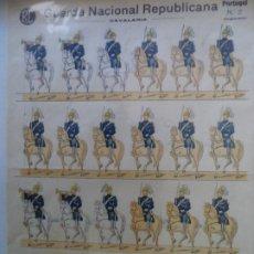 Coleccionismo Recortables: RECORTABLE PORTUGUES Nº2 GUARDA NACIONAL REPUBLICANA CAVALARIA 40X29 CM. Lote 260826980