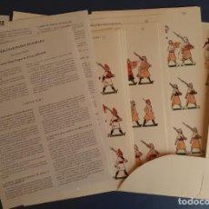 Coleccionismo Recortables: LOTE 332 RECORTABLES EJERCITO EN PARADA ESPAÑOL 1945 1975 JM BUENO CARPETA COMPLETA. Lote 261609320