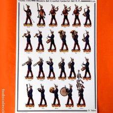 Coleccionismo Recortables: RECORTABLE - SOLDADOS: ESPAÑA 1986 - MÚSICA DEL CUARTEL GENERAL DEL EJERCITO - D. SALAS - NUEVO. Lote 263197530