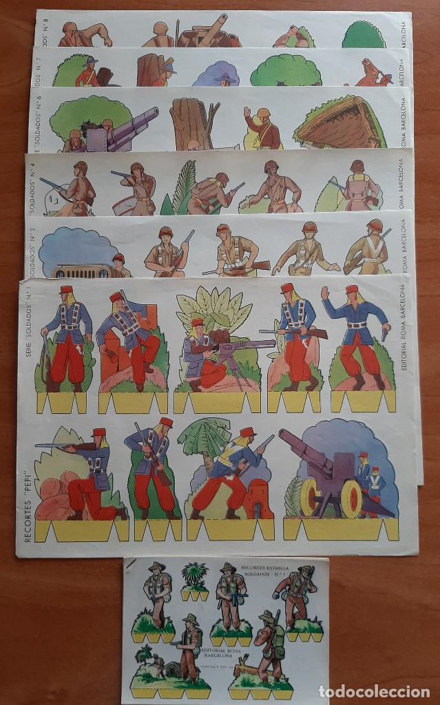 LOTE DOS SERIES COMPLETAS SOLDADOS : 24 RECORTABLES (Coleccionismo - Recortables - Soldados)