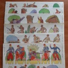 Coleccionismo Recortables: LOTE DOS SERIES COMPLETAS SOLDADOS : 24 RECORTABLES. Lote 263784500
