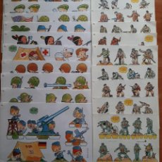 Coleccionismo Recortables: LOTE DOS SERIES COMPLETAS DE SOLDADOS : 19 RECORTABLES. Lote 275887183