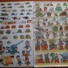 Coleccionismo Recortables: LOTE DOS SERIES COMPLETAS DE SOLDADOS : 19 RECORTABLES. Lote 275887793