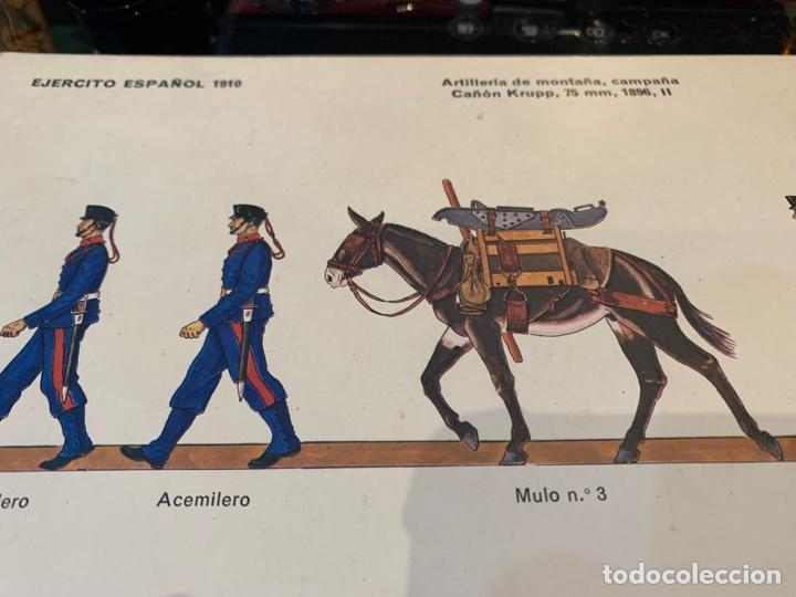 Coleccionismo Recortables: 2 Recortables Ejercito Español 1910 - Artillería de Montaña , Campaña Cañon Krupp, 75 mm, 1895, II - Foto 3 - 276199033