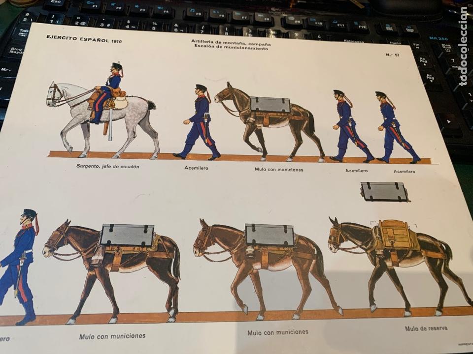 Coleccionismo Recortables: 2 Recortables Ejercito Español 1910 - Artillería de Montaña , Campaña Cañon Krupp, 75 mm, 1895, II - Foto 4 - 276199033