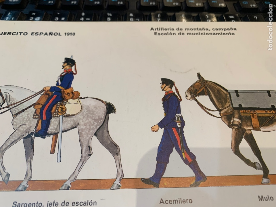 Coleccionismo Recortables: 2 Recortables Ejercito Español 1910 - Artillería de Montaña , Campaña Cañon Krupp, 75 mm, 1895, II - Foto 5 - 276199033