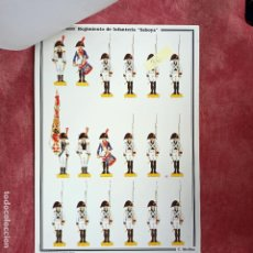 Coleccionismo Recortables: RECORTABLES - BAILÉN 1808 - REGIMIENTO DE INFANTERÍA SABOYA (C. MEDINA). Lote 278597048