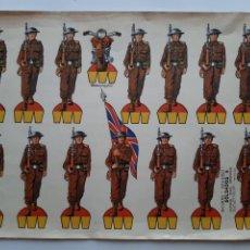 Coleccionismo Recortables: ANTIGUO RECORTABLE RECORTES KIKI-LOLO EDI. ROMA BARCELONA SOLDADOS INGLESES SEGUNDA GUERRA MUNDIAL R. Lote 278698763