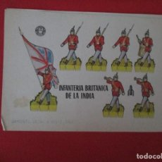 Coleccionismo Recortables: INFANTERIA BRITANICA DE LA INDIA. Lote 289541863