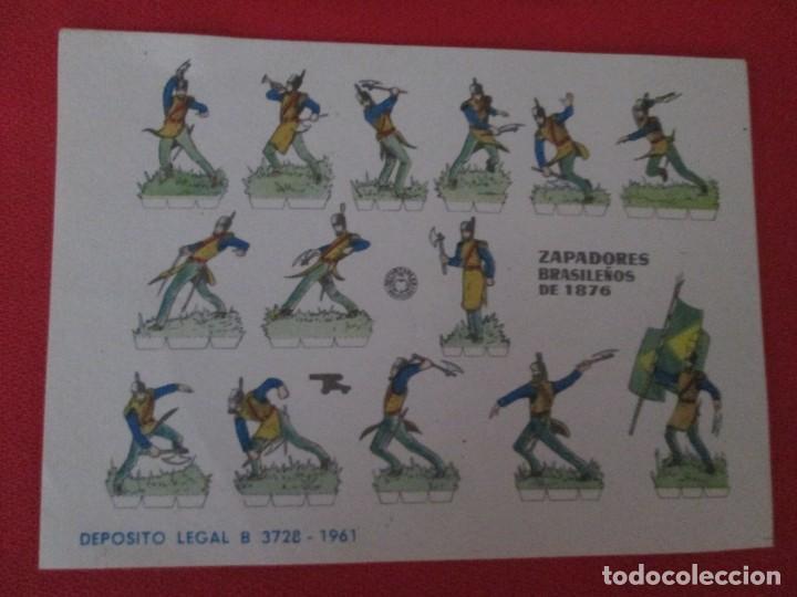 ZAPADORES BRASILEÑOS DE 1876 (Coleccionismo - Recortables - Soldados)