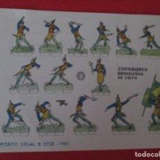 Coleccionismo Recortables: ZAPADORES BRASILEÑOS DE 1876. Lote 289541918
