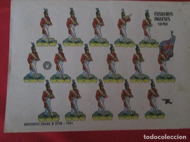 FUSILEROS INGLESES 1848 (Coleccionismo - Recortables - Soldados)