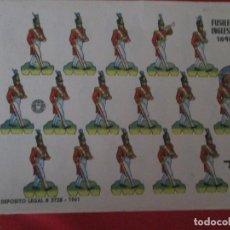 Coleccionismo Recortables: FUSILEROS INGLESES 1848. Lote 289542038