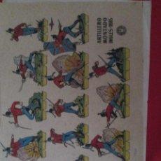 Coleccionismo Recortables: ARTILLERO MONTADO INGLES 1885. Lote 289542328
