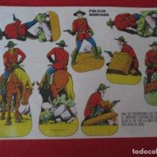 Coleccionismo Recortables: POLICIA MONTADA. Lote 289543548