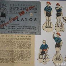 Coleccionismo Recortables: RECORTABLES - COLECCIONES JUVENILES SERIE A N.1 INFANTERIA - PELAYOS FET Y JONS, CON SOBRE ORIGINAL. Lote 290550943