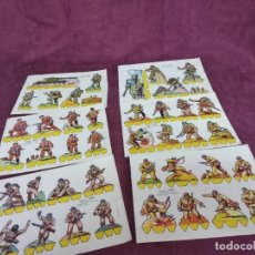 Collezionismo Figurine da Ritagliare: LOTE DE 6 RECORTABLES DE SOLDADOS, CHIC, ED. ROMA, NºS DEL 7 AL 12 CORRELATIVOS, UNOS 20 X 14 CMS.. Lote 293355323