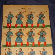 Coleccionismo Recortables: (M) RECOTABLE ORIGINAL - EJÉRCITO CARLISTA SIGLO XIX CAMPAÑA DE CARLOS V NAVARRA, FOURNIER. Lote 293610738