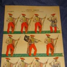 Coleccionismo Recortables: (M) RECOTABLE ORIGINAL - EJÉRCITO CARLISTA SIGLO XIX CAMPAÑA DE CARLOS V NAVARRA, FOURNIER. Lote 293610943
