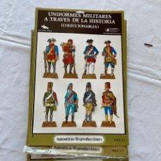 Coleccionismo Recortables: LOTE 4 LÁMINAS RECORTABLES TROQUELADAS UNIFORMES MILITARES HISTORIA SERIE A1, A3, A4 Y A7. Lote 296565173