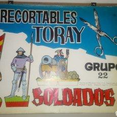 Coleccionismo Recortables: ÁLBUM DE RECORTABLES TORAY. GRUPO 22. SOLDADOS 3. AÑO 1968.. Lote 296781433