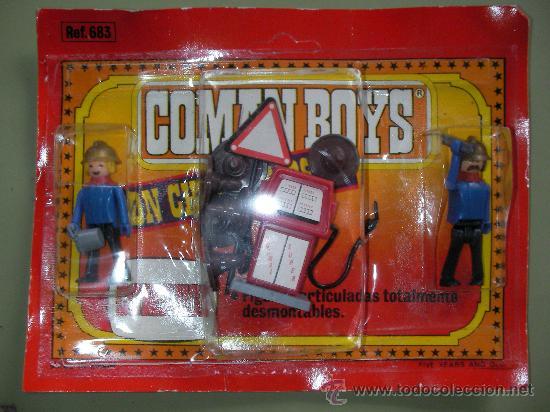 ANTIGUO BLISTER COMAN BOYS DE COMANSI KIT GASOLINERA CON FIGURAS Y ACCESORIOS (Juguetes - Figuras de Acción - Coman Boys)