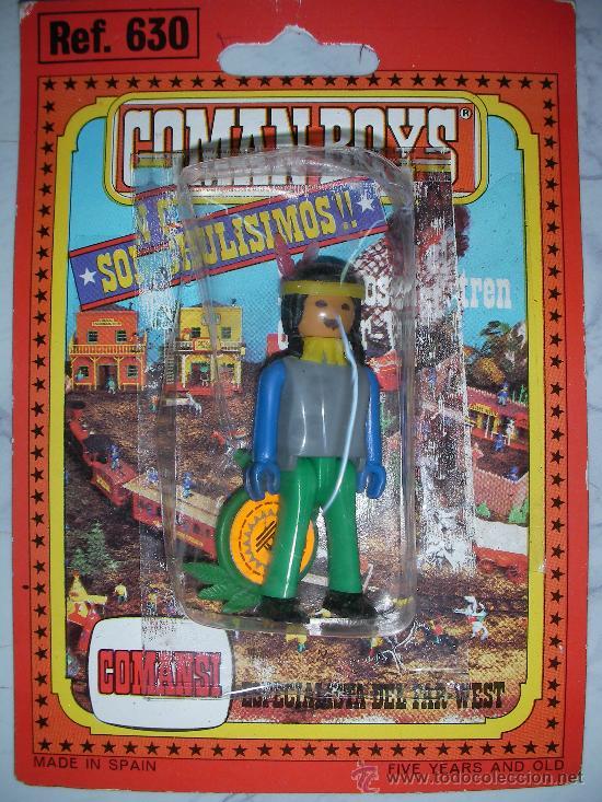 ANTIGUO BLISTER COMAN BOYS DE COMANSI INDIO REF. 630 - C-3.2 (Juguetes - Figuras de Acción - Coman Boys)