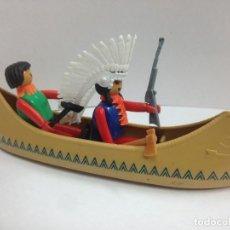 Coman Boys: LOTE 2 INDIOS CON CANOA INDIA COMAN BOYS. Lote 129536983