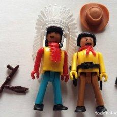 Coman Boys: COMAN BOYS, JEFE INDIO Y VAQUERO CON ACCESORIOS AÑOS 70. Lote 138712094