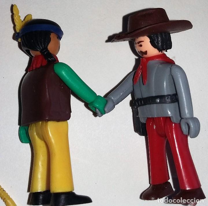 COMAN BOYS INDIO Y COWBOY VAQUERO CON ACCESORIOS AÑOS 70 (Juguetes - Figuras de Acción - Coman Boys)