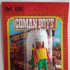 Coman Boys: COMAN BOYS JEFE INDIO EN BLISTER ORIGINAL AÑOS 70. Lote 138915522
