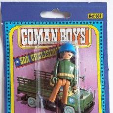 Coman Boys: COMAN BOYS SOLDADO CASCOS AZULES EN BLISTER ORIGINAL AÑOS 70. Lote 138915622