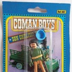 Coman Boys: COMAN BOYS SOLDADO CASCOS AZULES MORENO CON BIGOTE, CON BANDERA Y ARMAS AÑOS 70 . Lote 138990346